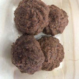 Kávové sušenky s kokosem