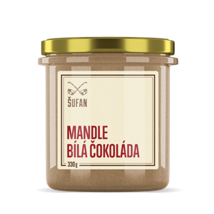 Mandle-bílá čokoláda 330g